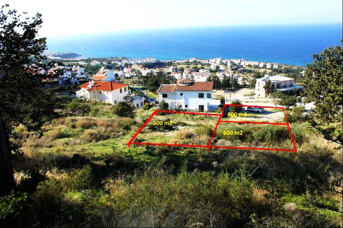 3 plots of land just under 2 donums with panaromic sea views - Houses for small plots of land ...